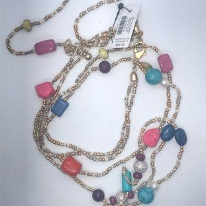 Chico's Jewelry - NWT- Chico's Long Multi-Colored Beaded Necklace